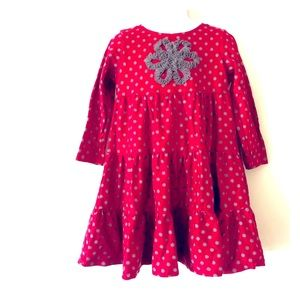 Hanna Andersson Girls Polka Dot Twirl Dress Sz 4